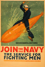 1917 World War I (WWI) Recruiting Join the Navy  Poster
