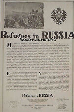 1917 World War I (WWI) Refugees in Russia Poster