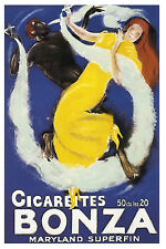 French Interracial POSTER.Stylish Graphics Smokers.Art for Bar Decor 153