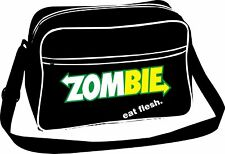 Zombie Eat Flesh Retro Shoulder Bag (Subway Spoof)