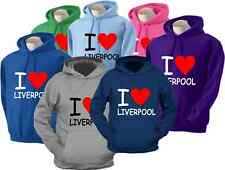 I Love Liverpool Adult Unisex Hoody Various Colours