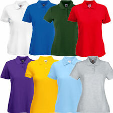 Fruit of the Loom Damen 65/35 Polo Shirt XS S M L XL