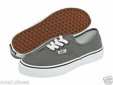 VANS AUTHENTIC Classic Canvas Kids Boys Girls Skate Shoes Pewter grey gray Black