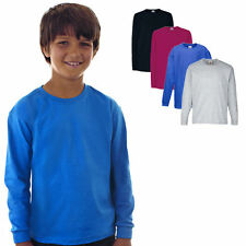 Fruit of the Loom Kinder Langarm Shirt Kids104-164 Neu