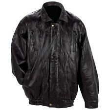 Mens Black Lambskin Leather Bomber / Motorcycle  Jacket, Coat NEW!