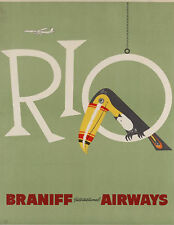 Rio - Braniff International Airways 1950 Poster