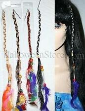 Hippie Braid Hair Extension with Feathers and Beads