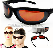Motorcycle Goggles Sunglasses HD Vision High Definition Blue Blocker lenses