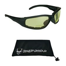 foam padded bifocal riding glasses yellow night riding bifocal motorcycle glass