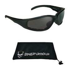Z87 Safety BIFOCAL Motorcycle Riding Sunglasses Foam Cushion Large Readers