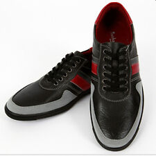 Black Rogen Stylish Casual Footwear Sneakers Mens Shoes