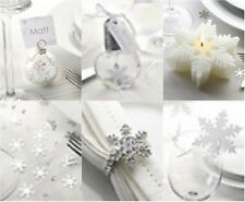 LUXURY SNOWFLAKE DESIGN CHRISTMAS PARTY TABLEWARE AND XMAS DECORATIONS ALL HERE