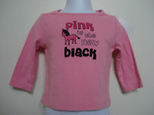 "GYMBOREE Girl's Pink ""PINK IS THE NEW BLACK"" Long Sleeve Shirt SIZE 3-6 MOS NWT"