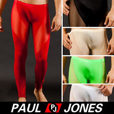 Sexy Mens Long Smooth Thermal underwear Pants Trousers Fit Fall See-through Best