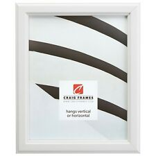 "Craig Frames Tulip Poplar, 1"" Simple White Wood Picture Frame"
