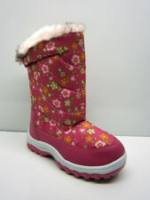 INFANTS GIRLS WINTER BOOTS SNOW FUR THERMAL YETTI MOON ICICLE PINK BOOTS UK 6-12
