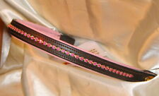 FSS Crystal Bling BABY ROSE PINK Padded Browband Custom Made Sparkle NEW