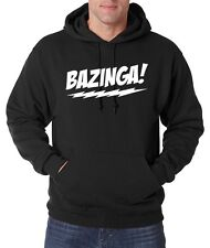 New BAZINGA! The Big Bang Theory T-Shirt Sheldon Cooper Jerzee Hoodie Pullover