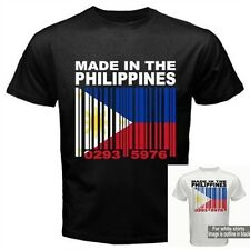 MADE IN THE PHILIPPINES Filipino Filipina Barcode Flag Black CUSTOM T-shirt  Y35