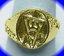 Gold plated Sterling Silver 925 Star of David ring JEWISH Judaism Your ring size