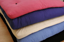 Single Futon Sofa Childrens Bunk Foam Mattress Cream Lilac Black Pink Navy