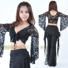 11 color Sexy Lace Blouse Top Belly Dance Costumes