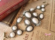 Fashion Jewelry Retro Style Enamel Flower Pearl Bracelets