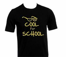 Too Cool For School Funny Kids Boys Girls Black T-Shirt Birthday Gift Age 5-15