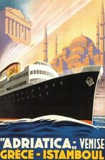 Vintage Old Transport Poster Adriatica Print Art A4 A3 A2 A1