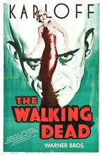 Vintage Old Movie Poster Walking Dead 1936 01 Print Art A4 A3 A2 A1