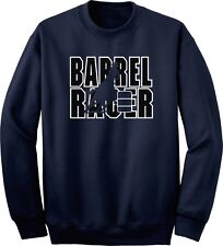 Barrel Racer Horse and Rider Sweatshirt Multiple Colors & Sizes
