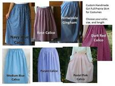 CUSTOM Girl old fashioned Historical Pioneer prairie skirt choose size & color