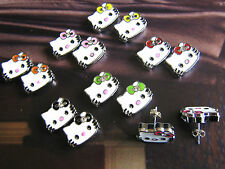 A Pair Cute Girl's Hello Kitty Head Stud Earrings. Stocking Party Bag Fillers