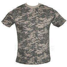 MILITARY ACU DIGITAL ALL TERRAIN CAMOUFLAGE CAMO T SHIRT US ARMY 100% COTTON
