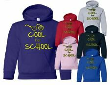 TOO COOL FOR SCHOOL~GREAT BIRTHDAY/GIFT IDEA KIDS/GIRLS/BOYS HOODIE SIZE 5-13