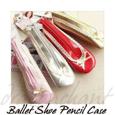 Novelty Pencil Case Ballet Shoe Shaped Bag Student Gift UK