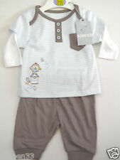 2 Piece Baby Boys Cotton Top & Joggers Set Outfit Newborn 1 3-6 6-9 9-12 Months