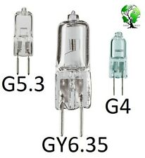 Pack of 10, Ultra Halogen Bi-Pin 12V Volt Replacement Bulb (G4, G5.3, GY6.35)