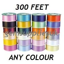 """300 FOOT REEL OF 2"""" WIDE FLORIST RIBBON, ALL COLOURS AVAILABLE, HAMPERS WEDDINGS"""