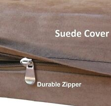 SMALL MEDIUM XL LARGE JUMBO REPLACEMENT BROWN SUEDE COVER PET DOG BED DUVET CASE