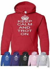 Keep Calm and Trot On Horse Riding Mens Ladies Hoodie Hoody Size S-XXL