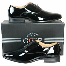 Mens Lace Up Black Patent Shoes. Weddings / Formal Dress Size 6 7 8 9 10 11 12