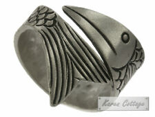 Karen Hill Tribe Sterling Silver Tribal Rolling Fish Ring