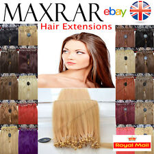 "25 micro boucle 100% remy human hair extensions 18 ""facile verrous ring 0,5 gramme"