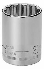 "Craftsman 1/2"" Drive Metric 12 pt Shallow Socket - Any Size STD MM Point Chrome"