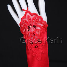 Sequins/ Faux Pearl / Embroidery Mitten EVENING Bridal Wedding Fingerless Gloves
