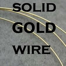 """14K  SOLID YELLOW GOLD,  ROUND WIRE, 1/2 HARD -3""""  NOT SCRAP, NOT FILLED"""