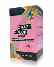 Box of Crazy Color Semi Permanent Colour Hair Dye by Renbow - 4 x 100ml Per Box