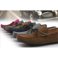 US 6-11 Leather Mens Driving car Shoes Lace Up Tie Loafer 6 Colors  [JG]
