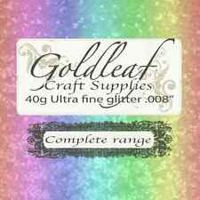 "COMPLETE RANGE OF FINE .008"" Glitter (38 COLOURS)"
